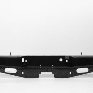 A black rear bumper is shown on a white background.